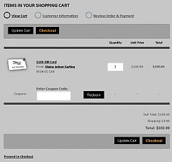 Simple View Cart Design