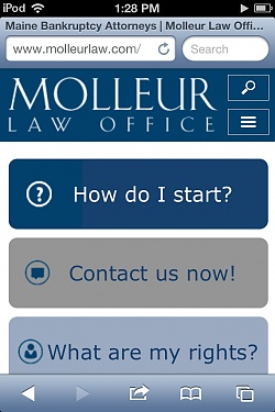 Molleur Law Mobile Website