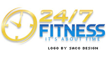 New logo for 24/7 Fitness Gym